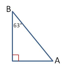 Finding the missing acute angle in a right triangle